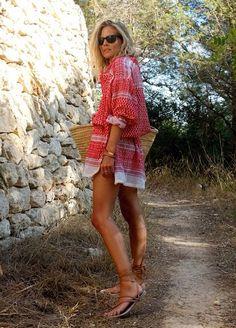 Boho Street Style Inspiration: Printed Mini Dress #johnnywas