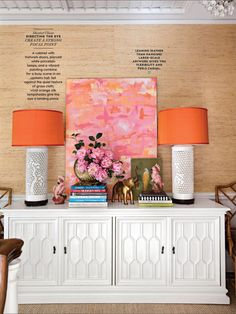 Apricot, pink & white color palette From Better Homes & Gardens magazine January 2017