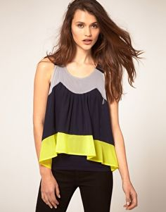 color block swing tank.