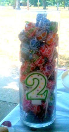 Dum Dum birthday centerpiece