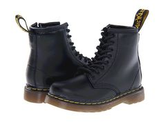 Dr. Martens Kid's Collection Brooklee 8-Eye Boot (Toddler) Black Softy T - Zappos.com Free Shipping BOTH Ways