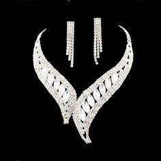 Bridal Wedding Bridesmaid  Pearl Rhinestone Crystal Celebrity Inspired Jewelry Sets  – USD $ 14.99