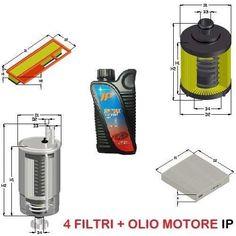 KIT FILTRI + 4LT OLIO ALFA MITO 1.3 JTDM 66KW 90CV MOT. 199A3000 DA 01/09 UFI