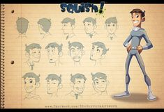 Chema Model Sheet by EduHerrera.deviantart.com on @DeviantArt
