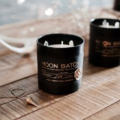 Moon Batch Candle ~ Full Moon Blend by Ritual Provisions Candle Packaging, Candle Labels, Jar Labels, Candle Jars, Vegan Candles, Soy Candles, Scented Candles, Strawberry Moons, Pink Moon