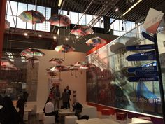 Beautiful umbrella display at FESPA Digital 2016 #fespadigital #fespa2016