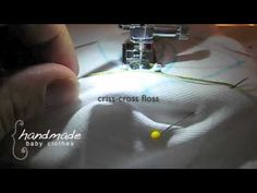 Learn how to use your sewing machine to make chain stitch embroidery. Find more tips, tutorials, and inspiration at www.handmadebabyclothes.org