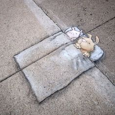 Artist's captivating chalk street art will make you do a double take - AOL News