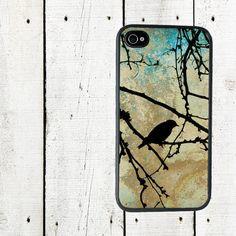 Winter Bird iPhone 4 Case, Lone Bird in Tree iPhone 4 Case - iPhone 5 Case - Gifts Under 25 on Etsy, $16.00