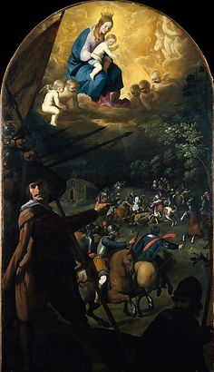 Francisco de Zurbarán (Spanish, The Battle between Christians and Moors at El Sotillo, ca. The Metropolitan Museum of Art, New York. Spanish Painters, Spanish Artists, Blessed Mother Mary, Blessed Virgin Mary, Caravaggio, Religious Images, Religious Art, Pierre Auguste Renoir, Francisco Zurbaran