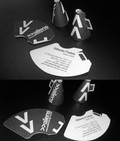 Creative Business, Cards, Inspirational, and Black image ideas & inspiration on Designspiration Die Cut Business Cards, Examples Of Business Cards, Black Business Card, Unique Business Cards, Creative Business, Business Ideas, Aliens, Business Card Design Inspiration, Cool Cards