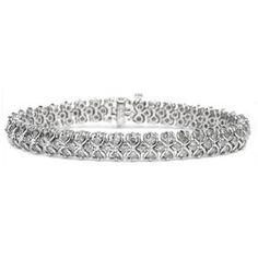 5.00 Karat Diamant Armband aus 585er Weißgold gefertigt. Dieses Diamantarmband wird angeboten von www.juwerlierhausabt.de
