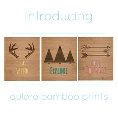 shopduloroWe are excited to introduce our bamboo prints! Check out our website to see all of our designs and check back often for more to come. Limited quantities available. #ecofriendly #bamboo #babynursery #baby #decor #homedecor #lasercut #prints #handmade #engraved