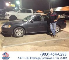 https://flic.kr/p/ASbfAh | Congratulations George on your #Chevrolet #Impala Limited from Regina Frazier at Greenville Chrysler Jeep Dodge Ram! | deliverymaxx.com/DealerReviews.aspx?DealerCode=J122