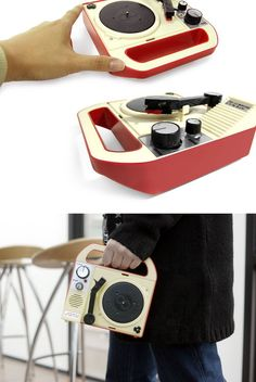 Eight Ban portable record player. Sweet little thing.