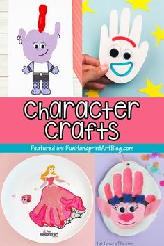 Turn your child's favorite cartoon character into a cool handprint craft they can display or have as a keepsake! Diy Craft Projects, Diy Crafts For Kids, Easy Crafts, Cardboard Art, Favorite Cartoon Character, Business For Kids, Creative Kids, Cartoon Characters, Painted Rocks