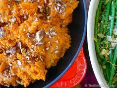 Vegan Orange Cinnamon Sweet Potatoes with Candied Maple Pecans