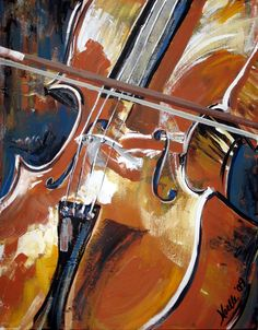 """Cello"" painting by Noelle Maki Rollins ... from the artist's website"