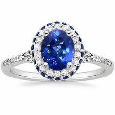 18K White Gold Sapphire Circa Diamond Ring with Sapphire Accents from Brilliant Earth