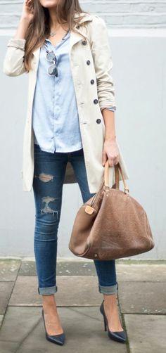 Jean taille haute feminine