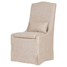 Colette Dining Chair Removable Slip Cover Lumbar Pillow included   Additional…