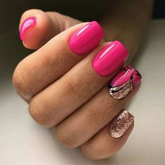 50 Beautiful Summer Short Square Nails Design For Manicure Nails - Page 38 of 51 - Latest Fashion Trends For Woman Gel Nail Tips, Nail Manicure, Diy Nails, Cute Nails, Nail Polishes, Square Nail Designs, Nail Art Designs, Nails Design, Do It Yourself Nails