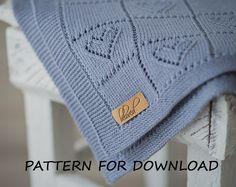 Knit Baby Blanket Pattern in English, Knitting Pattern for Babies, Heart Baby Blanket Pattern, Baby Blanket Knitting Pattern, PDF Pattern
