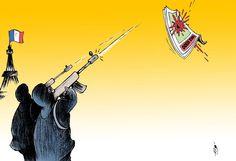 Les caricaturistes du monde arabe et du monde musulman se sont montrés solidaires avec leurs collègues français de Charlie Hebdo. Confrontés à la censure du pouvoir dans leurs pays respectifs, ils s'interrogent sur les limites que s'imposent les dessinateurs...
