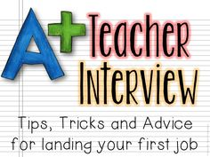 This has good examples of questions that may be asked in an interview: Tips, Trick and Advice for giving a great teacher interview!