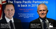 Our globalist traitor of a Prime Minister has spent the last year trying to ressurect the TPP. This is the deal that places MegaCorp above local laws, meaning they can do anything they want. Trans Pacific Partnership, Liberty, Campaign, Freedom, Political Freedom
