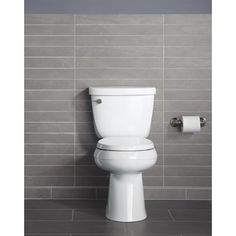 KOHLER Cimarron White 1.28-GPF/4.85-LPF 12-in Rough-in WaterSense Elongated 2-Piece Comfort Height Toilet