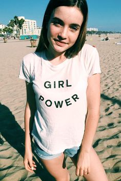 Brandy ♥ Melville | Margie Girl Power Top - Graphics