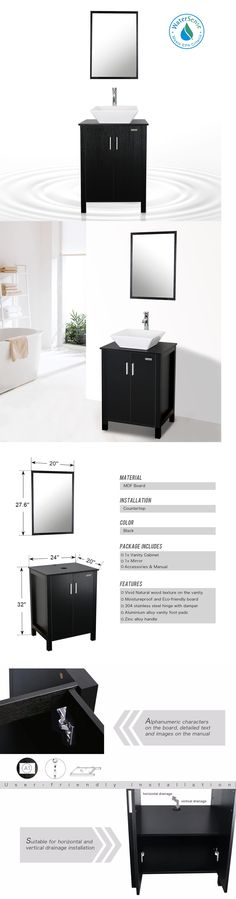 Photo Gallery For Photographers Vanities New Ceramic Sink Bathroom Vanity Cabinet Solid Wood Modern Design W Mirror ue BUY IT NOW ONLY on eBay Pinterest
