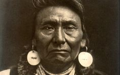 Chief Joseph (aka Joseph II) (1840-1904) - Nez Perce - By Edward S. Curtis - 1903. (Cropped & photoshopped) --- Joseph was an eloquent spokesman for his people, well-known and respected by his old foes in the U.S. Army and by the American public. He died on September 21,1904 on the Colville reservation in Washington. His doctor said he died of a broken heart.