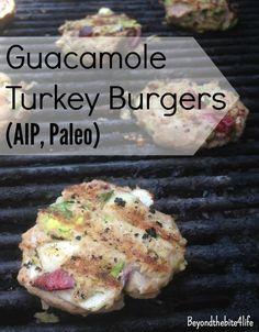 AIP Paleo Guacamole Grilled Turkey Sliders