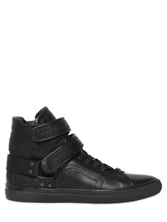 Love the LUISAVIAROMA MATT NAPPA DOUBLE STRAP SNEAKERS on Wantering.