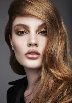 ISSUE 35 RENAISSANCE I 'ANTIQUE GOLD' Colour Story I model KATHLEEN McGONIGLE #beauty #goldmakeup