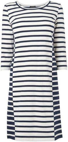 JAEGER Body Con Striped Jersey Dress - Lyst