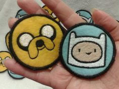 Adventure Time Finn and Jake Sew On Patches by primadiana on Etsy