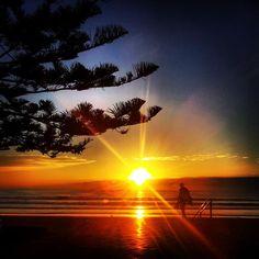 Sunrise over Manly beach       Winter In Australia, Sydney Australia, Beautiful Sunset, Beautiful Places, Amazing Places, Manly Sydney, Manly Beach, Rock Pools, Travel Images