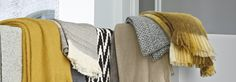 A new range of throws launch for the 2015 collection. See in store for more details. Ligne Roset, Home Accessories, Product Launch, Range, Blanket, Yellow, Store, Furniture, Collection