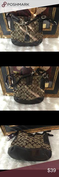 Coach Brown Handbag Coach Brown Handbag..measures 12x11.  This bag has some wear but looks good. Coach Bags