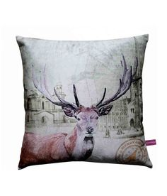 Deer Christmas  Cushion Cover by Vivora Homes