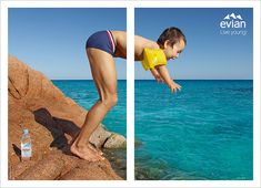 Evian's Cute and Clever Print Ads Reveal One-Half of Your Inner Child | Adweek