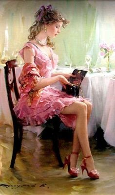 Playful Russian Impressionist Pin-Ups - Konstantin Razumov Contemporizes the Classic Painting Style (GALLERY).