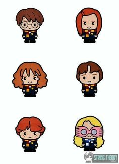 Harry Potter Chibi STUDENT SET - SIX designs machine embroidery design - drawing designs Harry Potter Anime, Arte Do Harry Potter, Cute Harry Potter, Harry Potter Pictures, Harry Potter Facts, Harry Potter Characters, Harry Potter Hogwarts, Harry Potter Drawings Easy, Chibi Tutorial