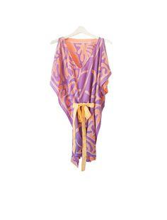 Hand Painted Silk poncho silk caftan silk by RebeccaChristenSilk