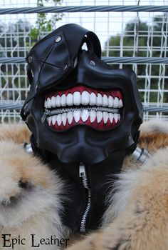 Tokyo Ghoul Ken Kaneki's Eyepatch Leather Mask by Epic-Leather.deviantart.com on @deviantART