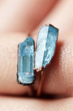 Aquamarine Prism Ring