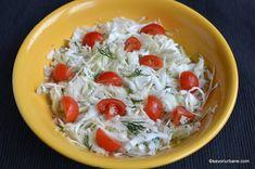Salata de varza reteta simpla si rapida savori urbane Vegetarian Recipes Dinner, Healthy Salad Recipes, Diet Recipes, Cooking Recipes, Slow Carb Diet, Romanian Food, Romanian Recipes, Spare Ribs, Caprese Salad